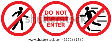 set prohibited signs   people stock photo © ecelop