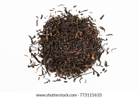 Black tea isolated on white stock photo © ozaiachin