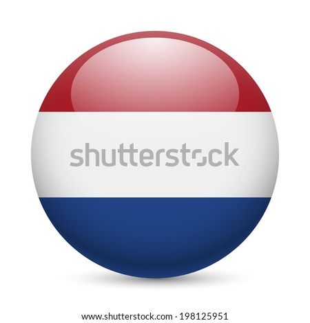 national flag of the Netherlands (Holland) in circular shape wit Stock photo © experimental