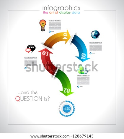Infographic design - original geometrics Stock photo © DavidArts