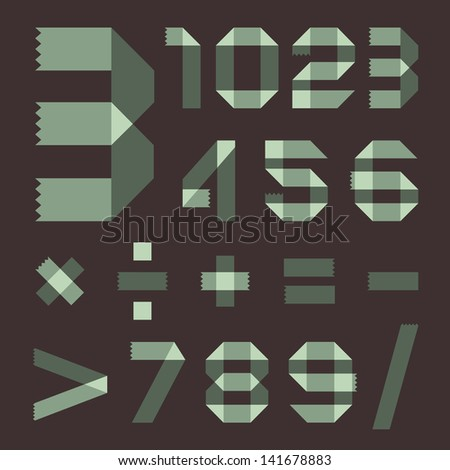Font from spindrift scotch tape - Arabic numerals Stock photo © Ecelop