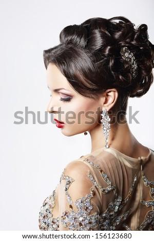 belleza · mujer · hermosa · profesional · maquillaje · superficie · del · agua - foto stock © gromovataya