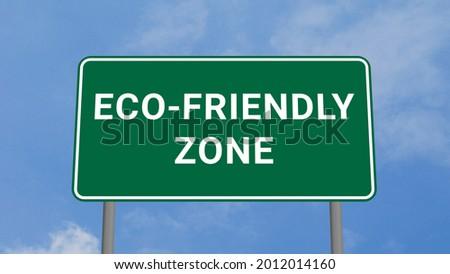 Eco Concept. Organic Products Waymark. Stock photo © tashatuvango