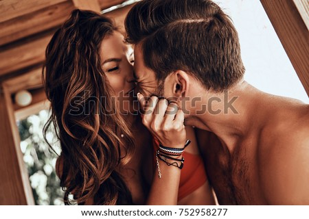 Young couple in love in swimwear Stock photo © Krisdog