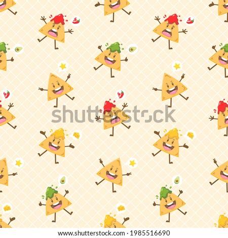 nachos · queso · salsa · colorido · toallas · fondo - foto stock © juniart