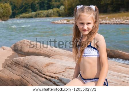 Stok fotoğraf: Seksi · plaj · kız · deniz · su · örnek