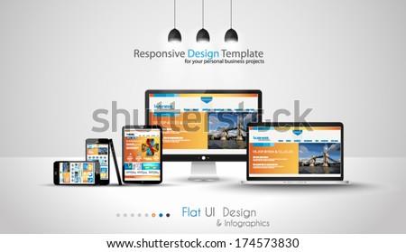 Moderno dispositivos negócio projetos telefone abstrato Foto stock © DavidArts