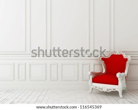 Comfortabel stoelen luxe witte muur ontwerp Stockfoto © Nejron