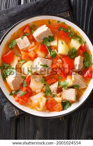 Hal pörkölt krumpli hagyományos spanyol gasztronómia Stock fotó © marimorena