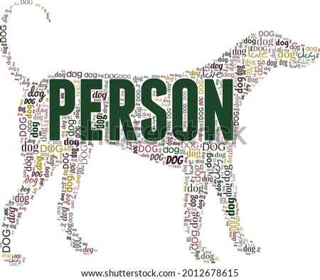 Dog breed Canine Word Cloud Typography Illustration Concepts Ide Stock photo © cboswell