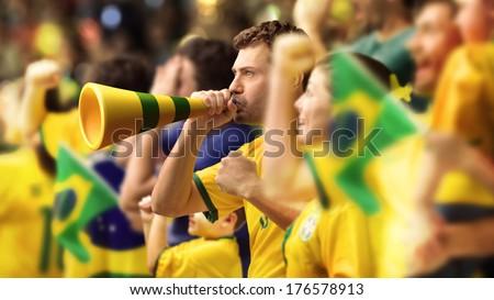 brazilian supporters Stock photo © flipfine