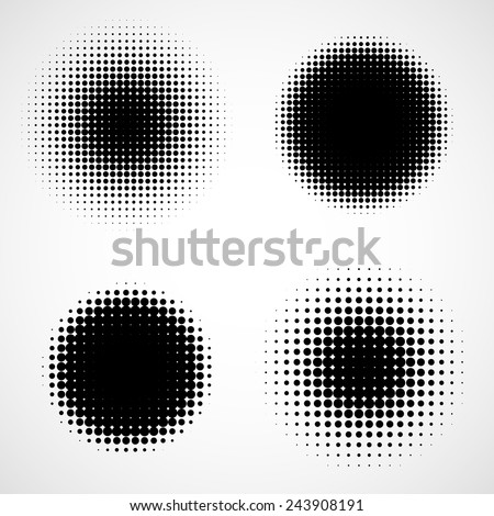 abstract halftone black and white isolated modern design element stock photo © essl