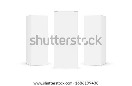 blanche · papier · carton · boîte · isolé - photo stock © konturvid