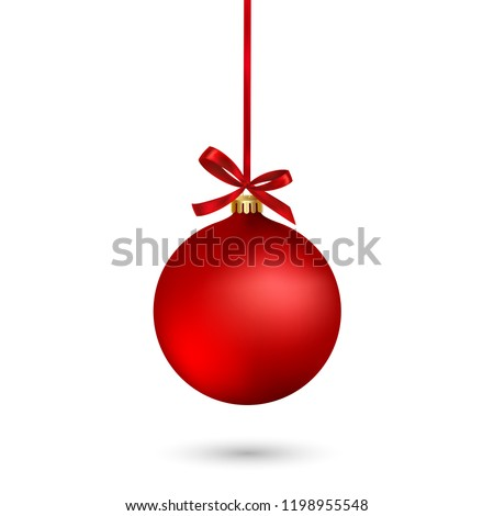Vermelho natal ornamento decoração neve Foto stock © enterlinedesign