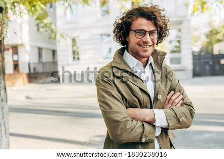 портрет · счастливым · молодые · бизнесмен · одежды · изолированный - Сток-фото © alexandrenunes