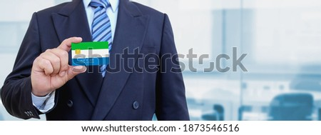 credit card with sierra leone flag background for bank presentations and business isolated on whit stock photo © tkacchuk