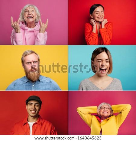 Foto jeugd ouderdom vrouw prachtig grijs Stockfoto © Massonforstock