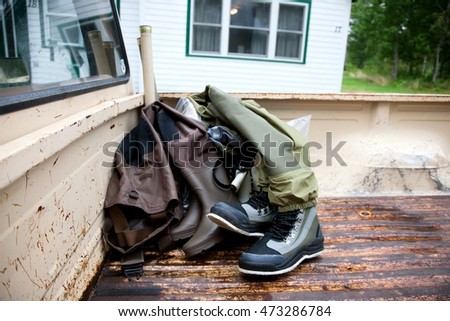 Fishing waders in back of pickup truck, Cape Breton Island, Nova Scotia Stock photo © IS2