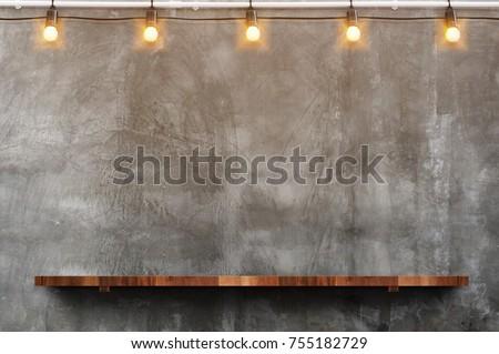 Chambre gris concrètes mur bois planche Photo stock © ivo_13