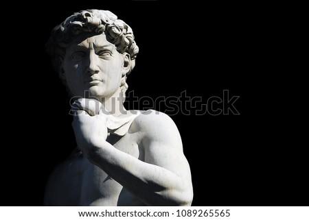 Statue of David by Michelangelo at Piazza Michelangelo in Floren Stock photo © boggy