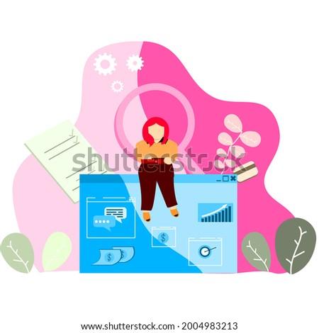vetor · lupa · pesquisar · ícone · projeto · estilo - foto stock © ussr