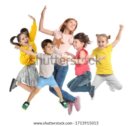 Set of different styled happy kid Stock photo © bluering