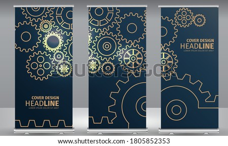 abstract gears black background design Stock photo © SArts