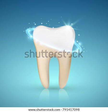 Отбеливание · зубов · вектора · зубов · изолированный · иллюстрация - Сток-фото © kyryloff
