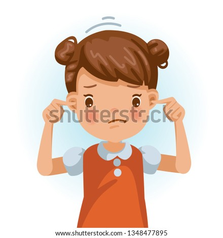 Kid Girl Do Not Listen Illustration Stock photo © lenm