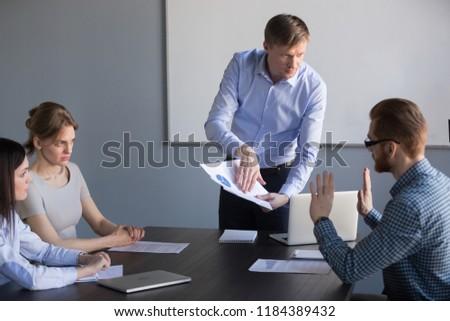 Boss Blaming Female Executive Stock photo © AndreyPopov