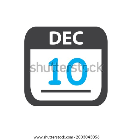 Simple black calendar icon with 10 june date isolated on white Stock photo © evgeny89