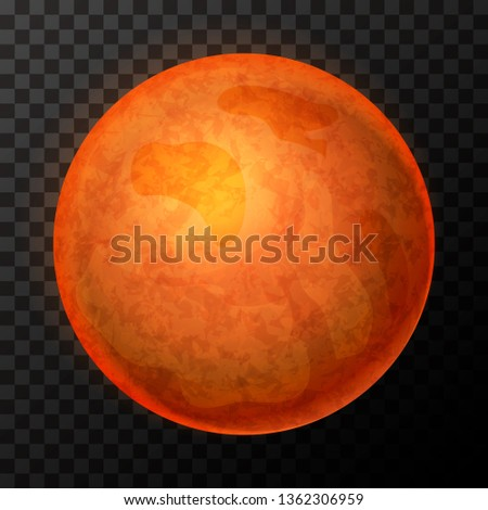 Realistic Mars with texture, colorful planet on transparent background Stock photo © evgeny89