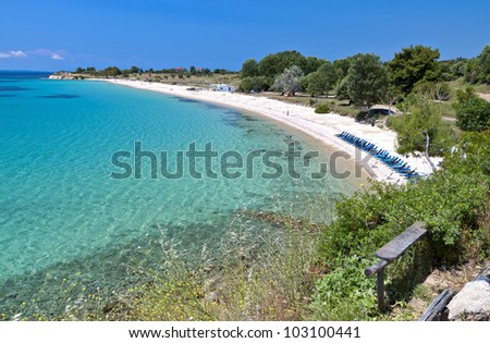 Spiaggia Grecia penisola cielo acqua natura Foto d'archivio © borisb17