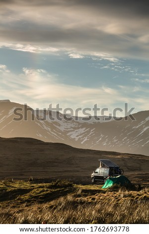 Highlands of Scotland - someone found a lovely spot for tonight  Stock photo © lightpoet