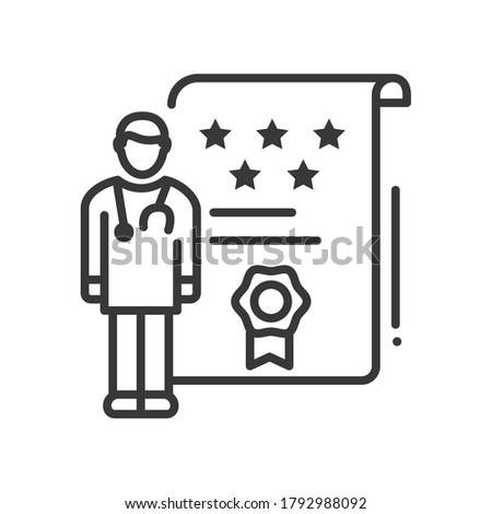 Doctor ratings - line design style single isolated icon Stock photo © Decorwithme