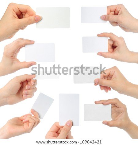 Woman displaying a business card Stock photo © photography33
