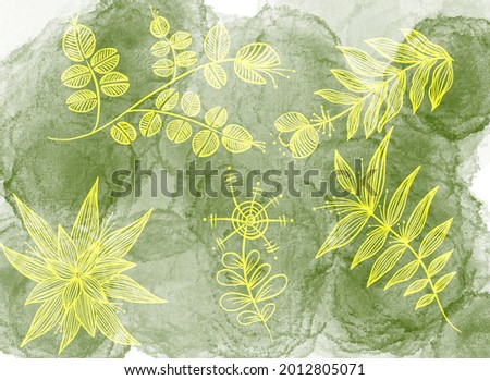 grungy paper background with cannabis leaves stock photo © taigi