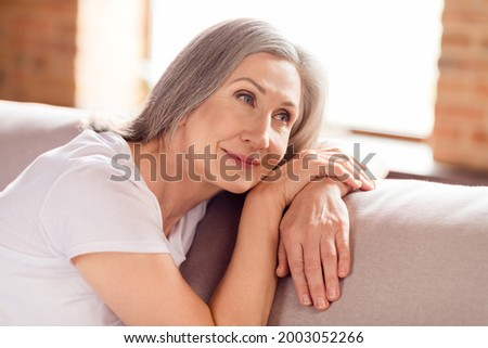 Attractive Modern Woman with Bob Hairstyle Daydreaming Stock photo © gromovataya