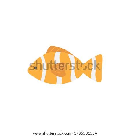 тропические · полосатый · рыбы · Cartoon · иллюстрация - Сток-фото © derocz
