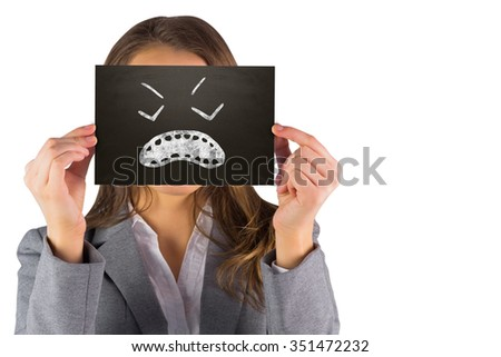 composite image of businesswoman showing a card stock photo © wavebreak_media