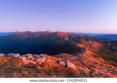 Yaz manzara gökyüzü ahşap güzellik dağ Stok fotoğraf © OleksandrO