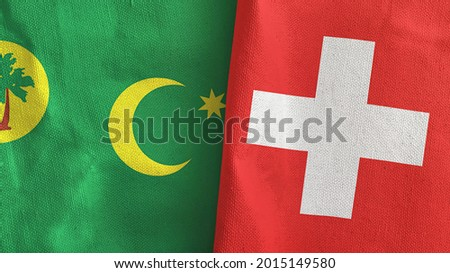 Switzerland and Cocos (Keeling) Islands Flags Stock photo © Istanbul2009