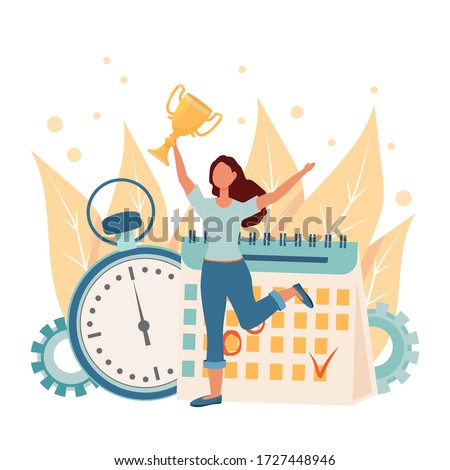 composite image of woman is holding a stopwatch stock photo © wavebreak_media
