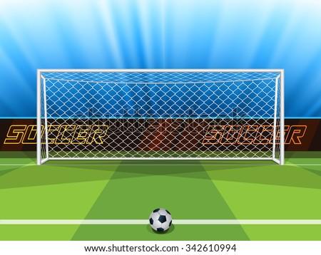вектора футбольным мячом цель пост зеленый области Сток-фото © adrian_n