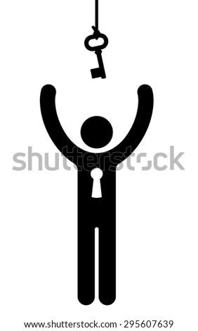 Рисунок подвесной ключевые черный вектора силуэта Сток-фото © adrian_n