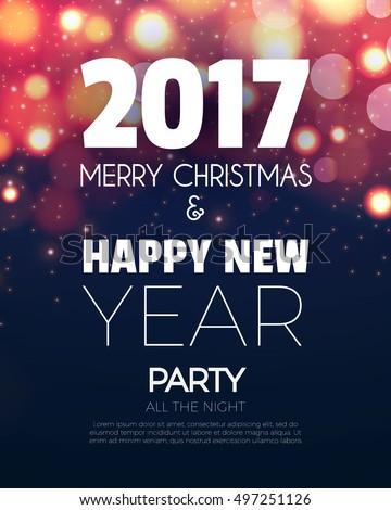 2017 happy new year restaurant menu template background stock photo © davidarts
