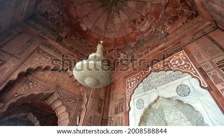 Chandelier In The Jama Masjid Mosque Stock photo © searagen