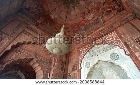 建築ディテール · 赤 · 砦 · デリー · インド · 青 - ストックフォト © searagen
