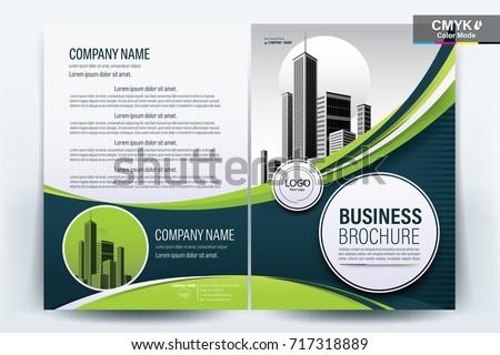 волнистый аннотация брошюра Flyer дизайна вектора Сток-фото © SArts