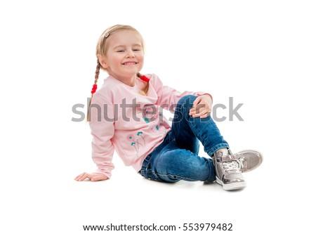 мало · ребенка · улыбаясь · сидят - Сток-фото © traimak